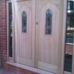Twin Wooden Door Installation